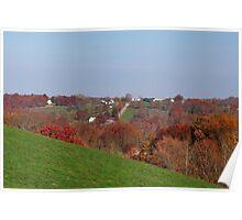Autumn Hill in Kentucky Poster