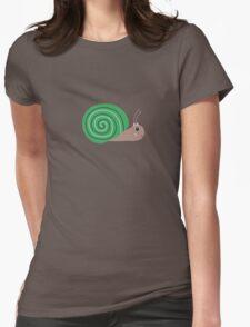 Cute green Snail Womens Fitted T-Shirt