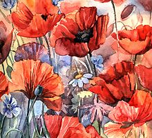 Poppies by Anna  Yudina