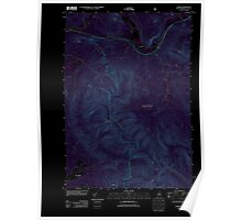 USGS TOPO Map New Hampshire NH Stark 20120508 TM Inverted Poster