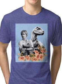 Amanda // Raptor - Woman Inherits The Earth Tri-blend T-Shirt