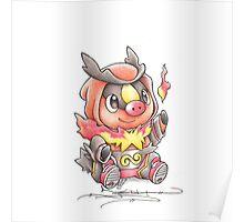 Tepig Pokemon Poster