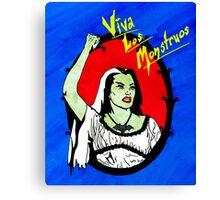 Viva Los Monstruos Canvas Print