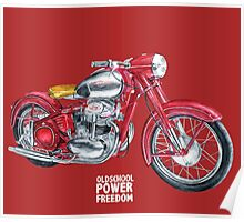 JAWA 500 oldschool, power, freedom - motorcycle Poster