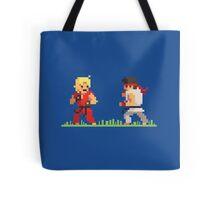 "Pixel Fighter ""Ken vs Ryu"" Tote Bag"