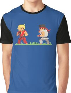 "Pixel Fighter ""Ken vs Ryu"" Graphic T-Shirt"