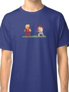 "Pixel Fighter ""Ken vs Ryu"" Classic T-Shirt"