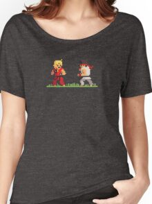 "Pixel Fighter ""Ken vs Ryu"" Women's Relaxed Fit T-Shirt"