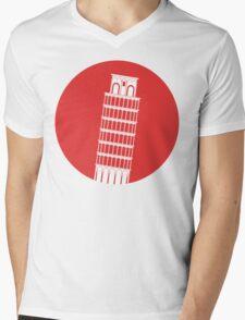 Pisa Tower Mens V-Neck T-Shirt