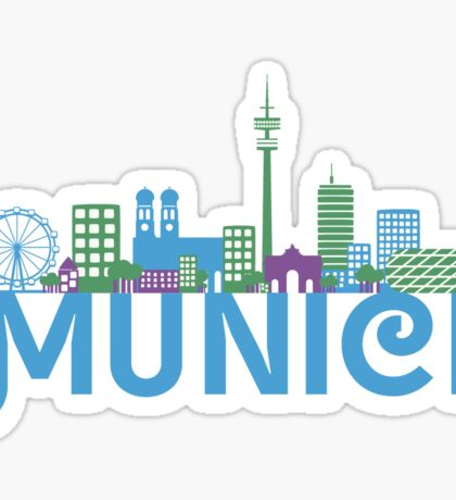 Skyline munich Sticker
