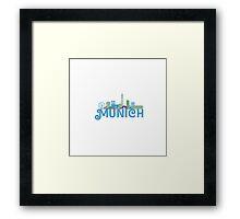 Skyline munich Framed Print