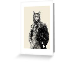 144 Portraits of Baudelaire: poe_T_ransfer 010 Greeting Card