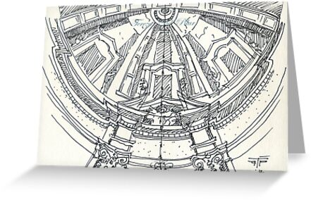 iPad case, Ipad deflector. mafra convent dome by terezadelpilar~ art & architecture