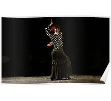 Toca Flamenco Black Poster