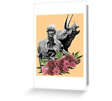 Ellie // Triceratops - Woman Inherits The Earth Greeting Card