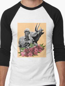 Ellie // Triceratops - Woman Inherits The Earth Men's Baseball ¾ T-Shirt