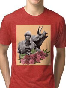 Ellie // Triceratops - Woman Inherits The Earth Tri-blend T-Shirt