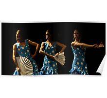 Toca Flamenco Blue Triple Poster