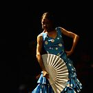 Toca Flamenco Blue Fan Low by bedoubleyou