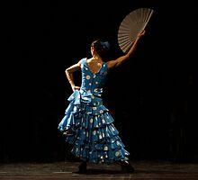 Toca Flamenco Blue Fan High by bedoubleyou