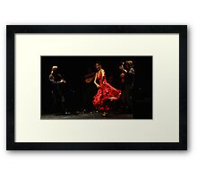 Toca Flamenco Red Dance Framed Print