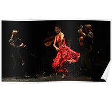 Toca Flamenco Red Dance Poster
