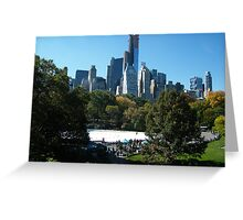 View of Central Park South Skyline,Wollman Rink, One57 Skyscraper, New York City Greeting Card