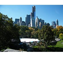 View of Central Park South Skyline,Wollman Rink, One57 Skyscraper, New York City Photographic Print