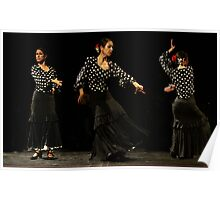 Toca Flamenco Black Triple Poster