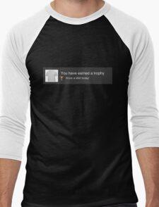 PS3 Trophy Unlocked Men's Baseball ¾ T-Shirt