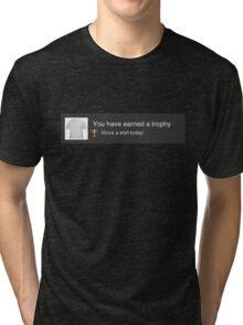PS3 Trophy Unlocked Tri-blend T-Shirt