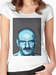 Walter White (Breaking Bad) - Cartoon Women's Fitted Scoop T-Shirt