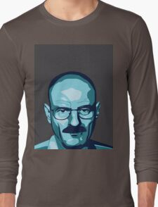 Walter White (Breaking Bad) - Cartoon Long Sleeve T-Shirt