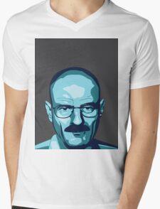 Walter White (Breaking Bad) - Cartoon Mens V-Neck T-Shirt