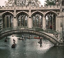 St John's Bridge over Cam 196104220258  by Fred Mitchell