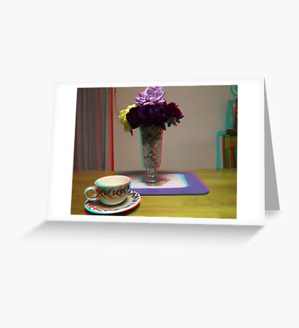 floating cup and saucer Greeting Card