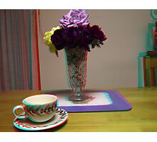 floating cup and saucer Photographic Print