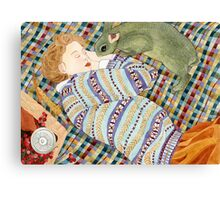 Picnic With Bunny Canvas Print