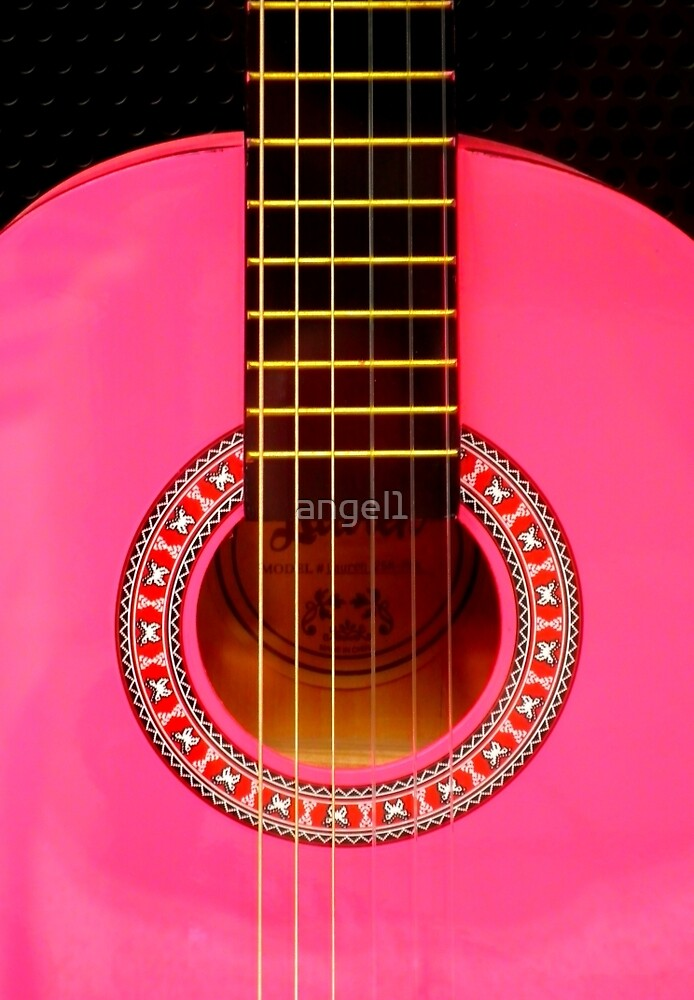 Pink Guitar by ©The Creative  Minds