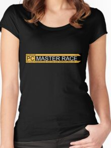 Glorious pc master race banner Women's Fitted Scoop T-Shirt
