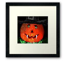 Mr Pumpkin Framed Print