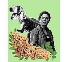 Sarah // T Rex - Woman Inherits The Earth Photographic Print