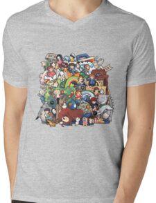 StudioGhibli Mens V-Neck T-Shirt