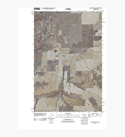 USGS Topo Map Washington State WA Sagebrush Flat 20110425 TM Photographic Print