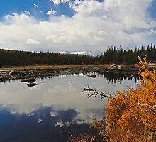 Red Rock Lake Wide by Robert Meyers-Lussier