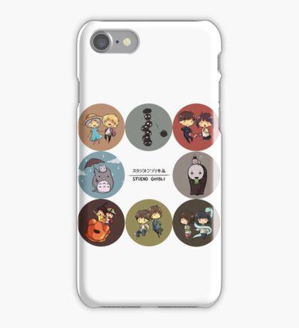 StudioGhibli Pins iPhone Case/Skin