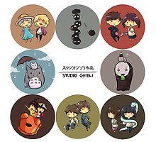 StudioGhibli Pins by CopperChoc