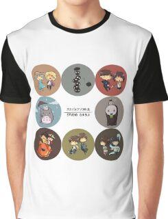 StudioGhibli Pins Graphic T-Shirt