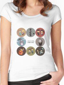 StudioGhibli Pins Women's Fitted Scoop T-Shirt