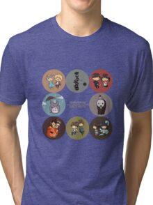 StudioGhibli Pins Tri-blend T-Shirt